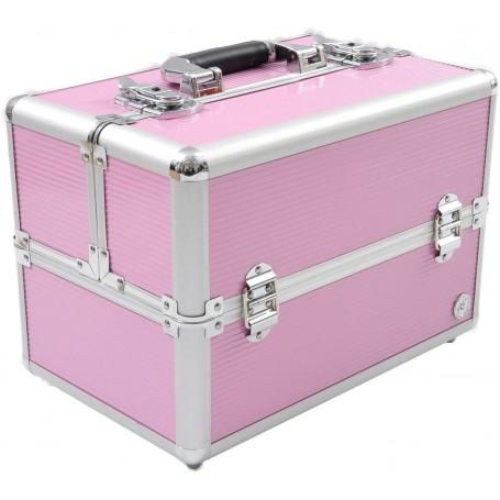 Estuche de maquillaje, color rosa