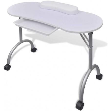 Mesa para manicura Plegable, con cajón