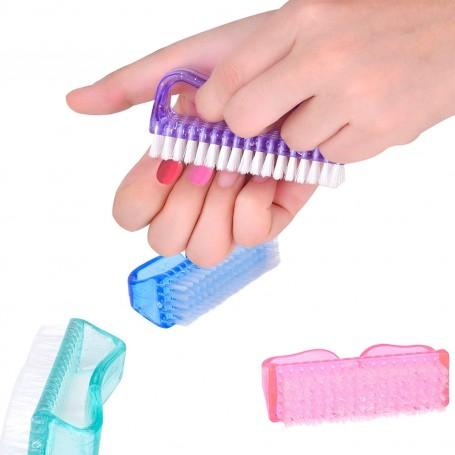 Cepillo Limpieza de Uñas de Plástico del Clavo, 4 Piezas