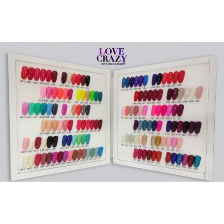 Lote de esmaltes semipermanentes Love Crazy 148 colores + Lámpara UV 36W