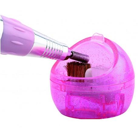 Limpieza de Fresa Torno Manicura Pedicura Limpiador con Brochas Cepillo